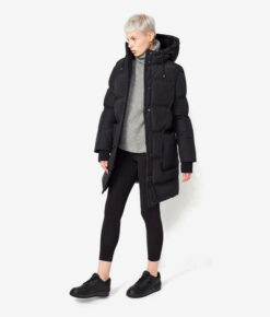 Langerchen Damen Puffermantel Coat Aike black