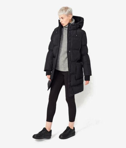 Langerchen Damen Puffermantel Coat Aike black