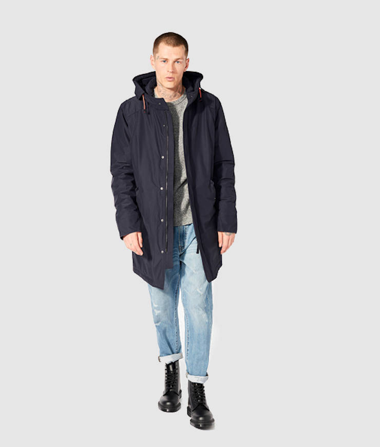 Langerchen Herren Winterparka Dunton midnight navy