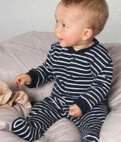 Living Crafts Baby Schlafanzug navy-striped