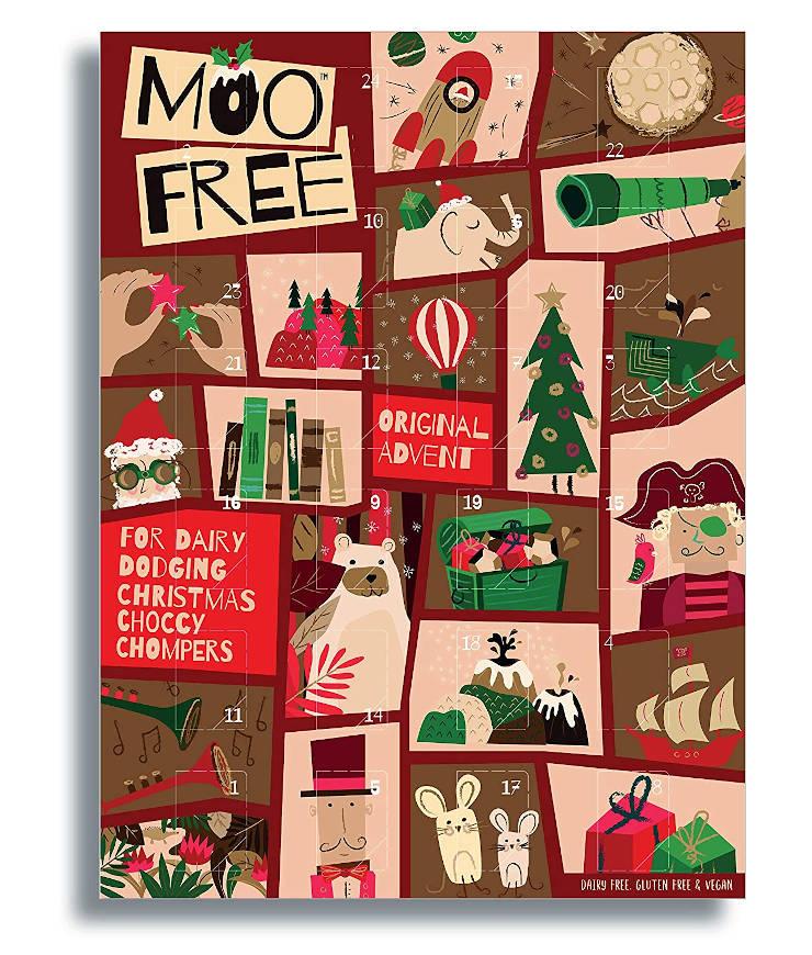 MooFree Adventskalender mit veganer Bio-Schokolade