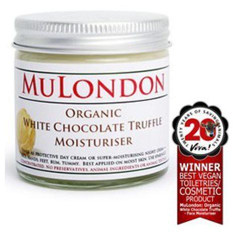 Mulondon Organic White Chocolate Truffle Moisturiser vegan / Foto: mulondon.com