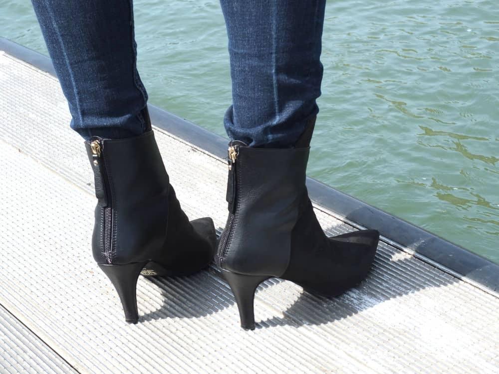 "Noah Italian Shoes Stiefelette ""Dora"": Die Rückseite"
