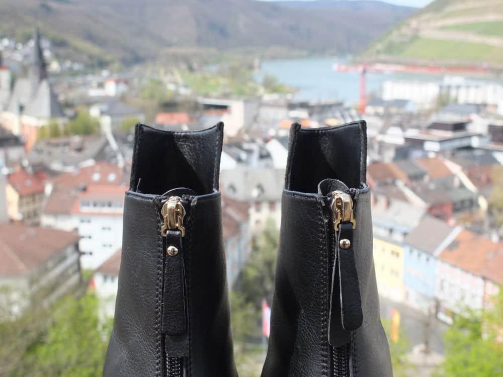"Noah Italian Shoes Stiefelette ""Dora"": Der Zipper"