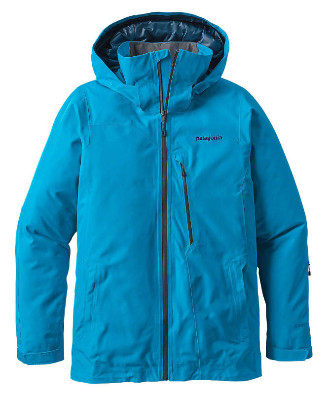 Patagonia Men's Insulated Powder Bowl Jacket in grecian blue