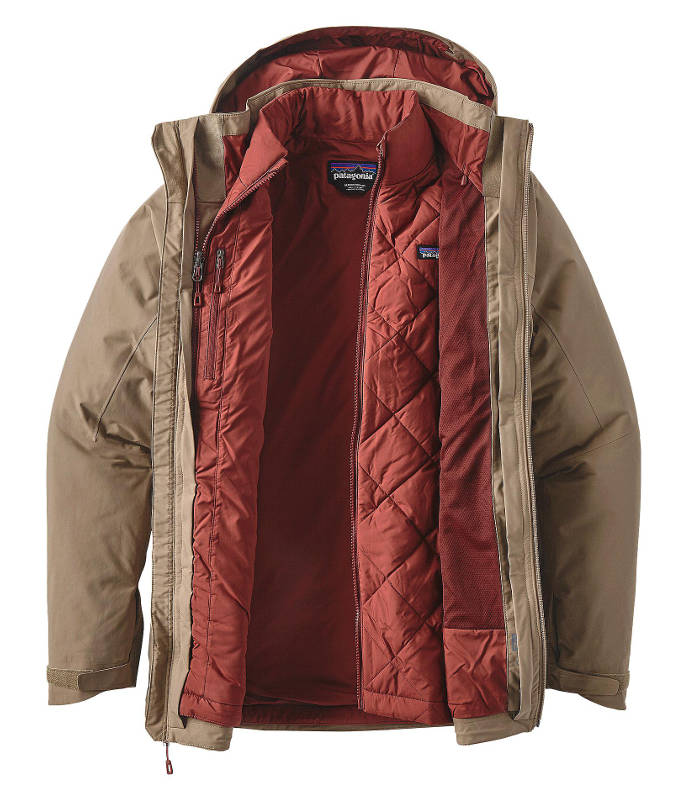 Patagonia Men's Windsweep 3-in-1 Jacket in ash tan