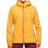 PYUA vegane Damen Skijacke Leaf sunflower yellow