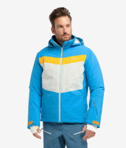 PYUA vegane Herren Alpin-Skijacke Void malibu blue foggy white