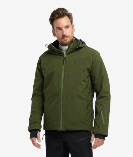 PYUA vegane Herren Alpin-Skijacke Void rifle green