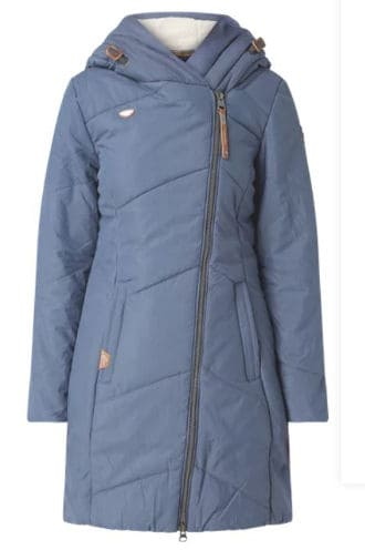 Ragwear veganer Steppmantel Gordon long marineblau