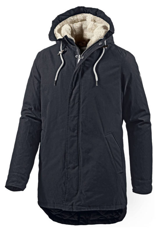 Mr Smith Outdoorjacke Herren blau vegan