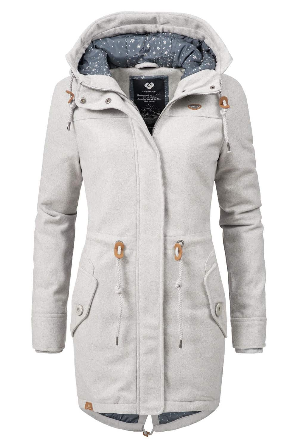 Ragwear Wintermantel Elba Coat A in grau