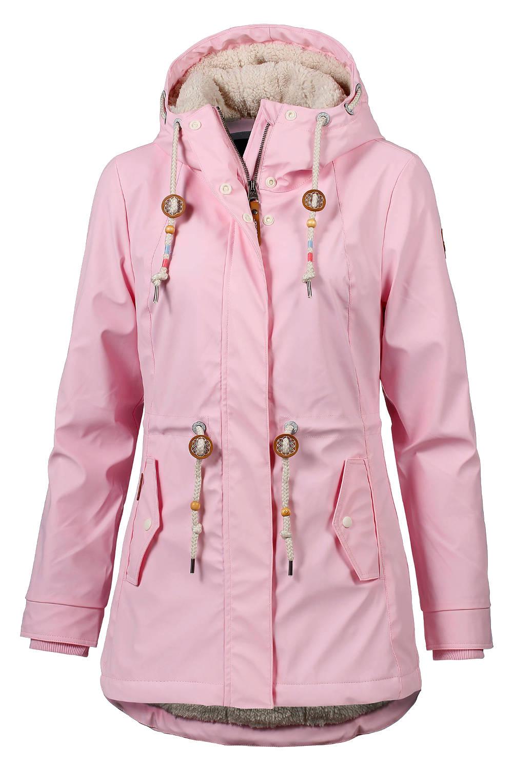 Ragwear warme vegane Regenjacke Monadis pink