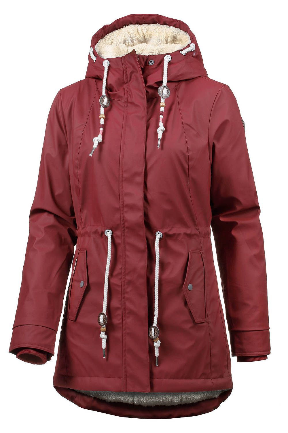 Ragwear warme vegane Regenjacke Monadis winered