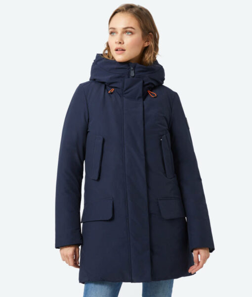 Save the duck Winterparka Cappotto Cappuccio navy