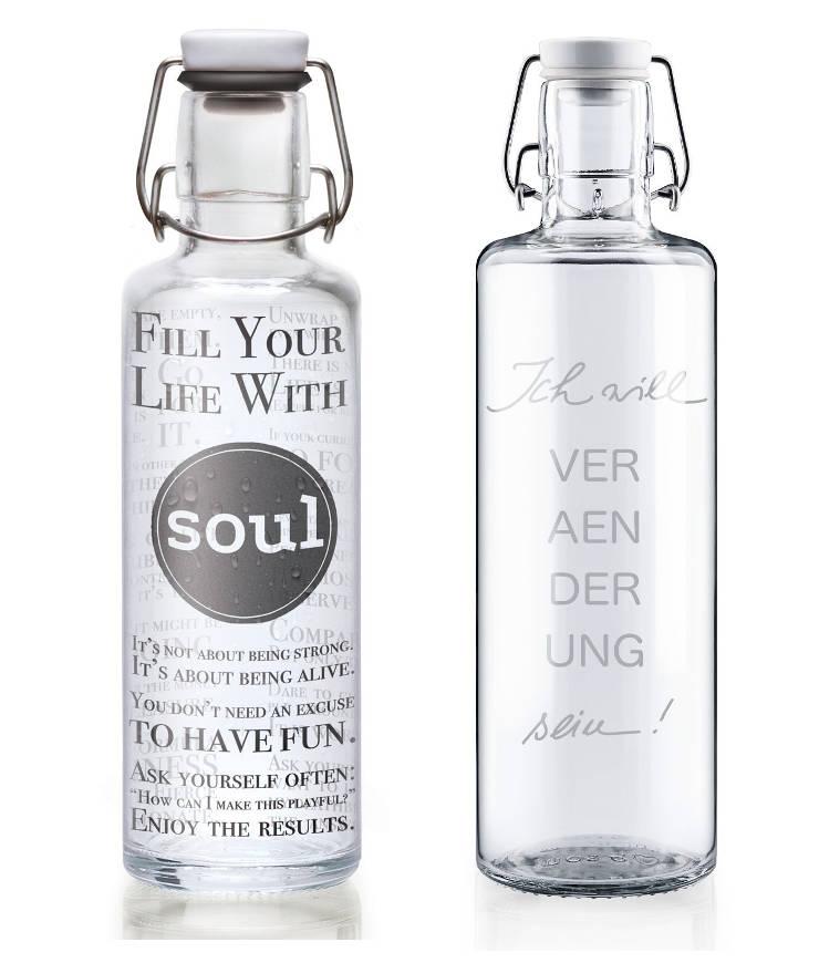 Soulbottle plastik- & schadstofffreie Glasflaschen über 30 Motive