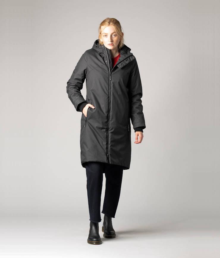 ThokkThokk veganer Winterparka Kapok Coat black