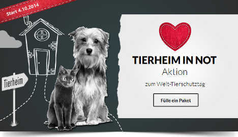Spendenaktion beim Tierschutz-Shop.de: Tierheim in Not
