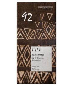 Vivani Cacao 92% Feine Bitter Schokolade Panama bio (80g)