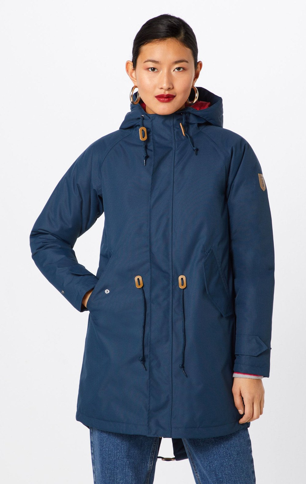 Warmer veganer Wintermantel Derbe Watt 'n Winter in navy