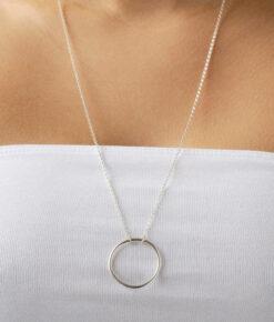 Wild Fawn Kette Long Circle Silber